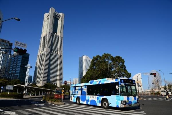 2020年1月21日 横浜市営バスピアライン 桜木町駅前 1-2711号車