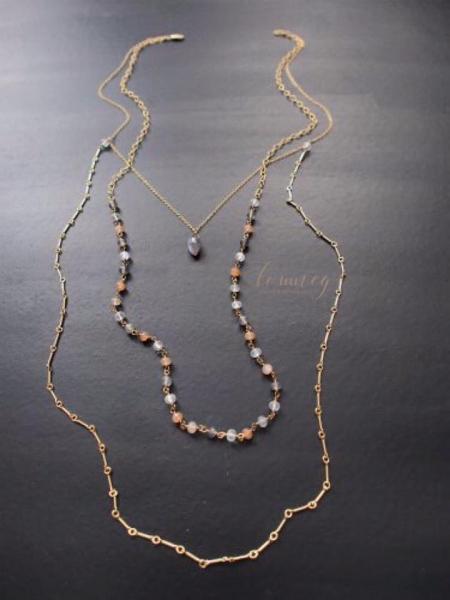 Moonstone Layer Necklace MegSasaki StudioTommeg