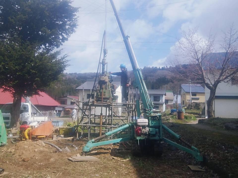 信濃町古海掘削現場