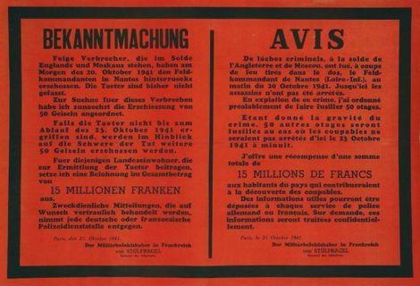 BEKANNTMACHUNG_21 Oktober 1941