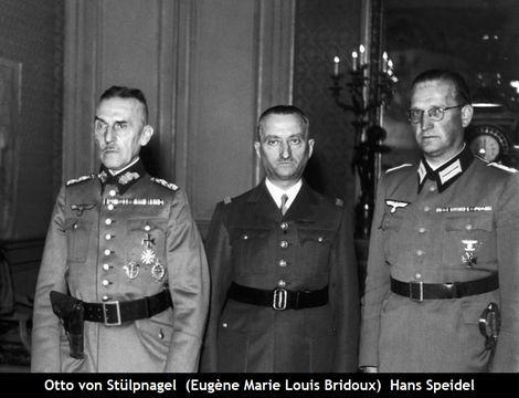 Otto von Stülpnagel_Eugène Marie Louis Bridoux_Hans Speidel