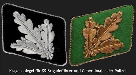 Kragenspiegel für SS-Brigadeführer und Generalmajor der Polizei