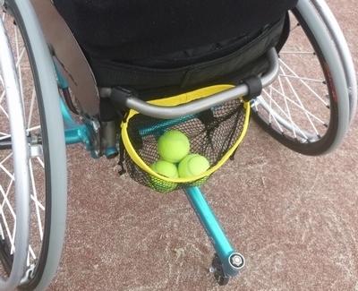 メッシュバック テニス車 入れ口