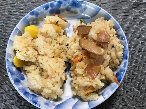 栗ご飯と松茸ご飯
