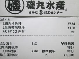 磯丸レシート2020.10