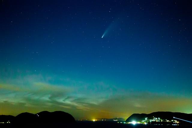 唐津市加部島のネオワイズ彗星1