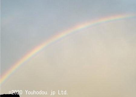 雨上がり 虹